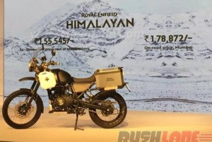 launching Royal Enfield Himalayan