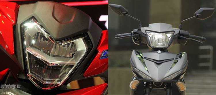 Honda Winner 150 vs Yamaha Exciter 150 lampu