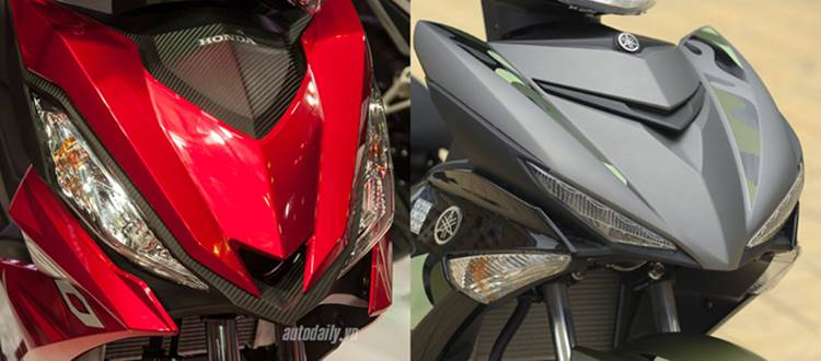Honda Winner 150 vs Yamaha Exciter 150 sein depan