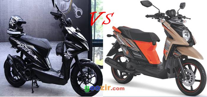Honda BeAT Street VS Yamaha X-Ride