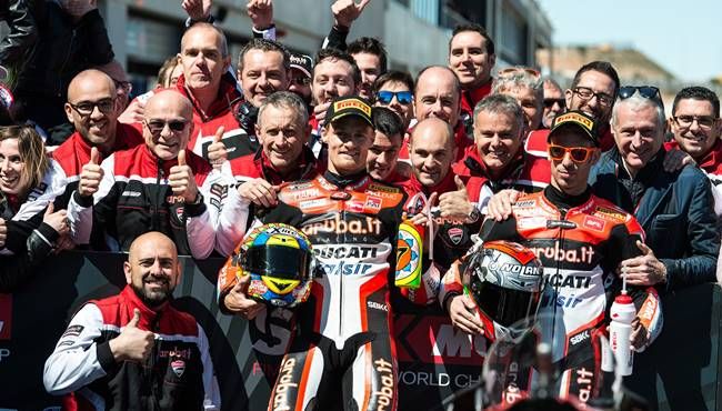 WSBK Aragon 2017 : Ducati double podium