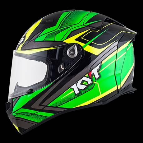 KYT Thunderflash Bolt Green / Yellow