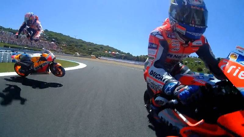 Hasil MotoGP Jerez 2018, Duo Ducati Crash