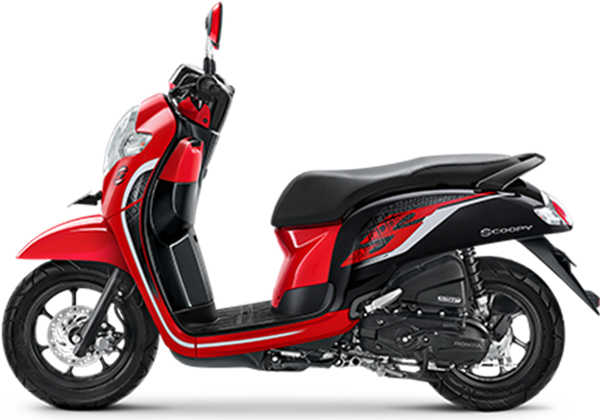 scoopy sporty red