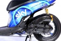Modif Lexi Striping Sky Racing Team VR46, Menang Customaxi 2019