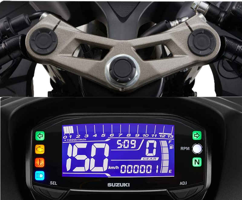 Speedometer dan triple clamp