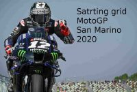 Starting Grid MotoGP San Marino 2020, Vinales Pole Position